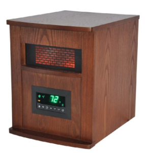 Lifesmart Pro 6 Element Large Room Infrared Quartz Heater w:Wood Cabinet and Remote