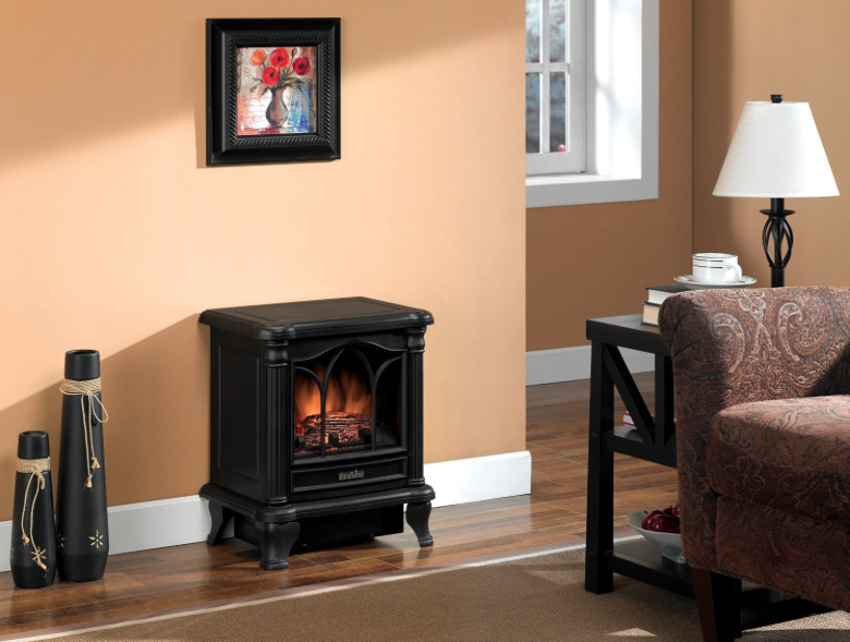 Duraflame DFS-450-2 Carleton Electric Fireplace Stove with Heater freestanding