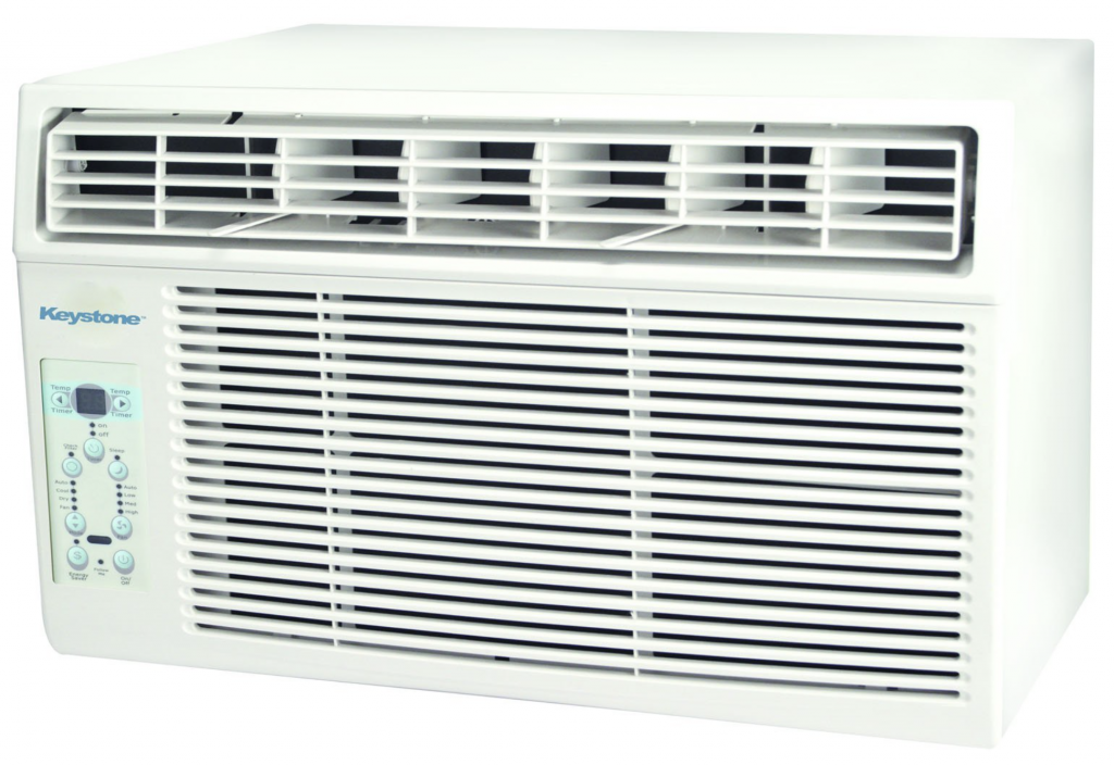 Keystone KSTAW12A 12,000 BTU 115-Volt Window-Mounted Air Conditioner with Remote Control