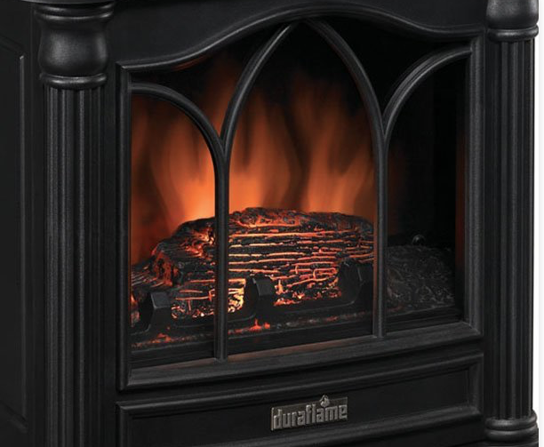 Duraflame DFS-450-2 Carleton Electric Fireplace Stove with Great Heater