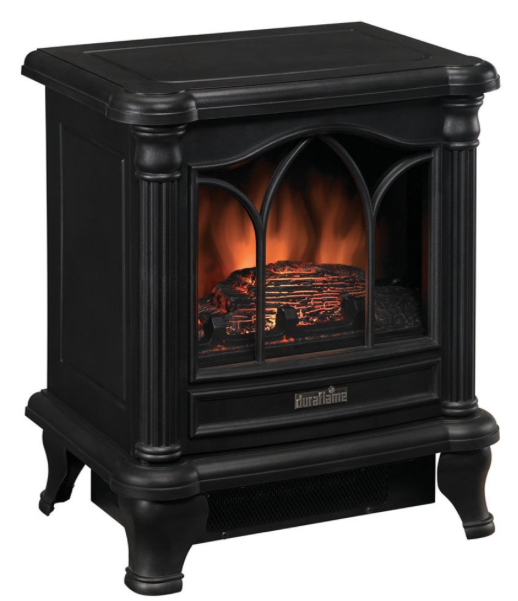 Duraflame DFS-450-2 Carleton Electric Fireplace Stove with Heater